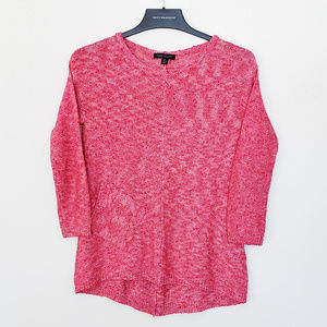 Parkhurst Red 3/4 Sleeve Sweater - Small